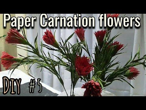 DIY - PAPER CARNATION BLOOM /CREPE PAPER FLOWERS #5/HOW TO MAKE
