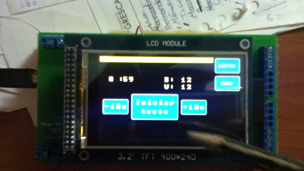 Ferduino - Usando a biblioteca UTFT h e ITDB02_Touch h