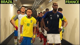 FRANCE vs BRAZIL | PES 2018 Gameplay PC