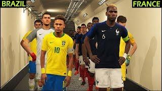 France vs brazil | pes 2018 gameplay pc