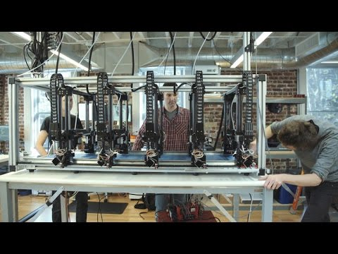3D printer array can create huge objects in a single print (Tomorrow Daily 338)