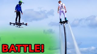 #1 Flyboard Athlete VS SkySurfer HOVERBOARD AIRCRAFT HYPE HOUSE Takeover Alex Warren & Thomas Petrou
