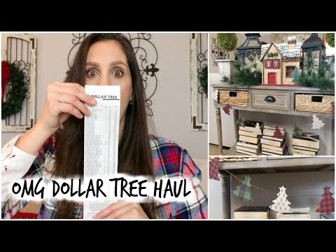 DOLLAR TREE HAUL & PLAID GARLAND DIY | PLAID WEEK DAY 1