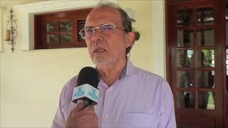 NA ROTA DO LEITE: Empresário João Teixeira integrou comitiva que visitou fazenda Vale Verde
