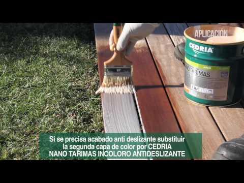 Tutorial aplicación CEDRIA NANO TARIMAS sobre tarima madera tropical