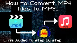 How to Convert/Export MP4 to MP3 using Audacity free Tool Step by Step mov aac audio oriaudio track