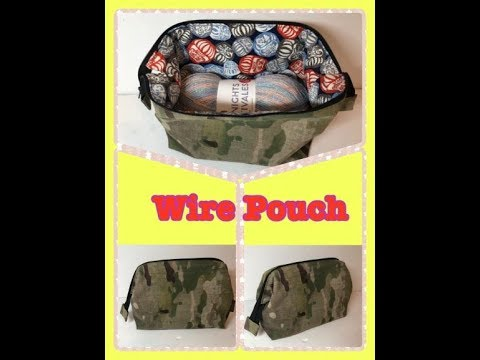 DIY Sewing Internal Wire Frame Pouch with Wire Hanger!