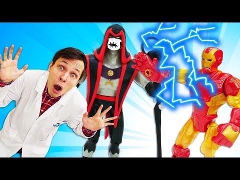 Игрушки Трансформеры и Хекс у Доктора Ой. Железный человек освобождает Мегаклинику! Часть 2