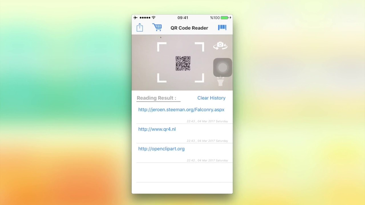 QR Code Reader Source Code - Swift 3 - In App Purchase