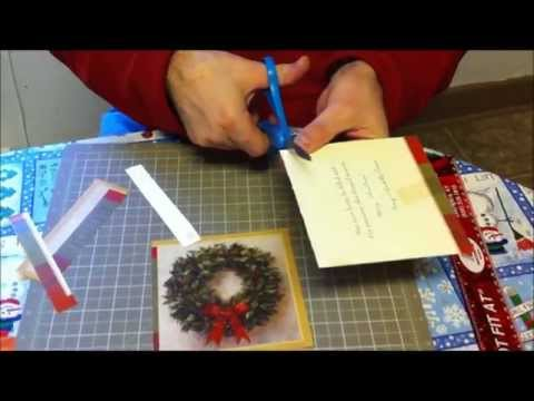 How To Make Boxes From Greeting Cards