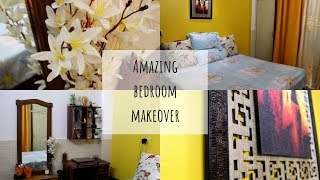 Small Indian Bedroom Tour ||Amazing Bedroom Makeover in budget || Complete Bedroom Tour 2018||Diwali