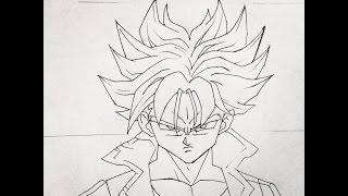 How to draw Trunks (Dragonball Super) step by step tutorial