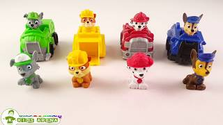 Paw Patrol Toys Learn Colors With Construction Trucks Balloons Surprise Toys For Kids 1