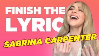 Sabrina Carpenter Covers Miley Cyrus, Selena Gomez & More   Finish The Lyric   Capital