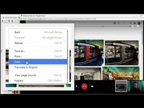 Using Chrome 52 to Cast a Tab to a Hangout video call