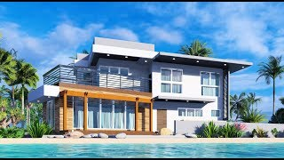 Architect Designed House Plan 12x8m 4 Bedroom Ofw Beach House Full Plans
