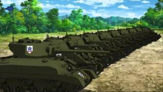 Girls und panzer ost Us Field Artillery March