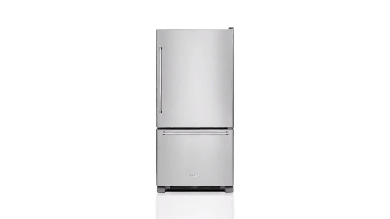 KitchenAid 18.67-cu ft Bottom-Freezer Refrigerator (Stainless Steel)