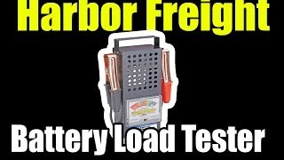 harbor freight 100 amp battery load tester