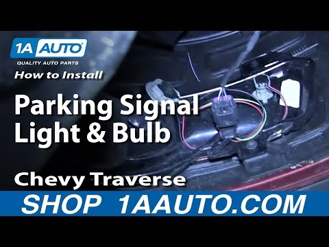 How To Replace Parking Signal Light And Bulb 09 12 Chevy