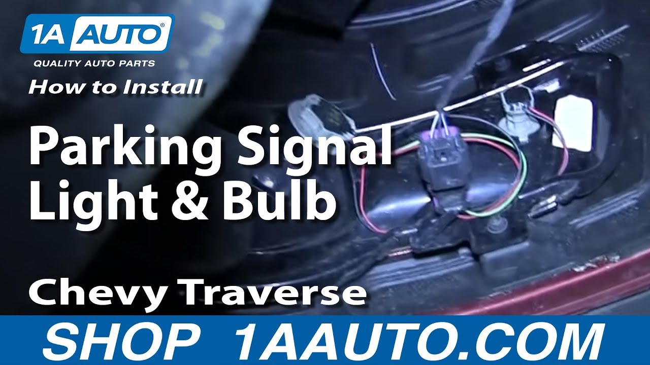 How To Replace Parking Signal Light and Bulb 09-12 Chevy ...
