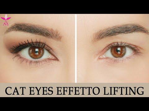 Trucco occhi incappucciati: cat eye effetto 'lifting'