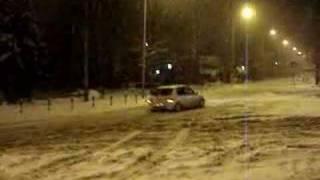 Snowy night in Belgrade...