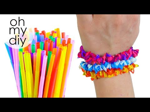 Diy Bracelet From Drinking Straws Drinking Straw Party