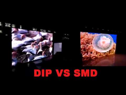 P10 DIP VS SMD led screen