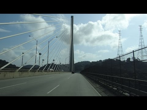 Panama Canal, Panama - Crossing the Centennial Bridge HD (2014)