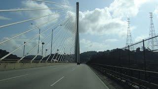 Panama Canal, Panama - Crossing the Centennial Bridge HD (2014)