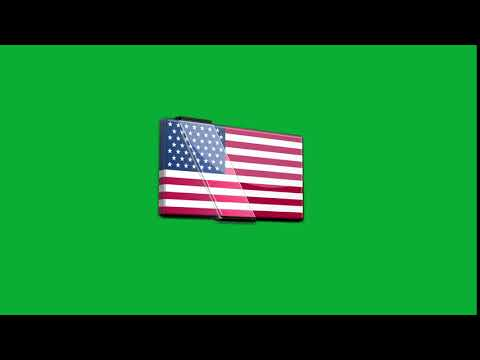 American Flag Green Screen Footage Royalty Free Download Stock Video 2019