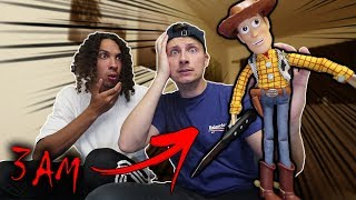 DO NOT PLAY ONE MAN HIDE AND SEEK WITH WOODY FROM TOY STORY AT 3 AM! (HE WAS NOT FRIENDLY)