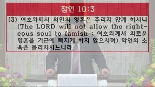 솔로몬의 잠언 #1 - 하나님의 사랑교회 정석진 목사 설교
