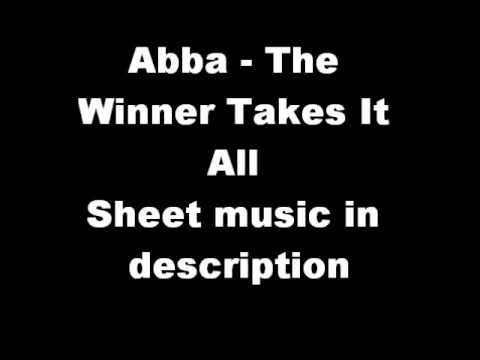 Abba - The Winner Takes It All (piano sheet music)