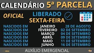 CALENDÁRIO da 5ª Parcela do Auxílio Emergencial LIBERADO! Começa Sexta-feira, Dia 28/08!
