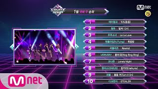 What are the TOP10 Songs in 3rd week of January? M COUNTDOWN 190117 EP.602