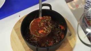 Густой фасолевый суп из Говядины и Телячьих хвостов