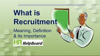 Recruiting in hrm is a process for hiring talent. recruitment starts from identifying, attracting, screening, short listing interviewing, selecting a...