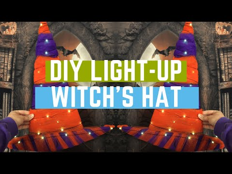 The Easiest Cheapest Halloween DIY for October 2019: Sparkling Witch Hat