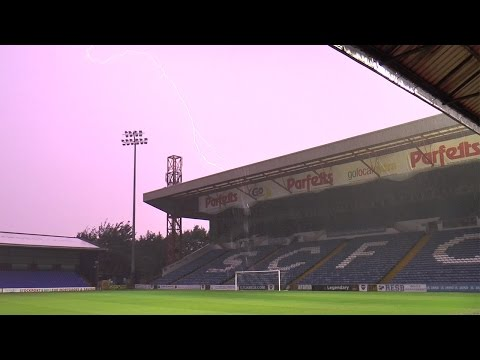 Freak Rain & Lightning Storm Over Edgeley Park
