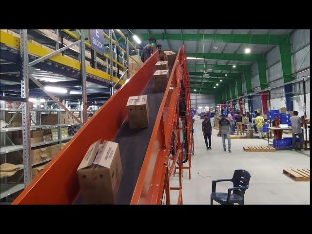 CANOPUS Inclined Belt Conveyors | Mezzanine Floor Inclined Conveyors - Nido Automation #beltconveyor