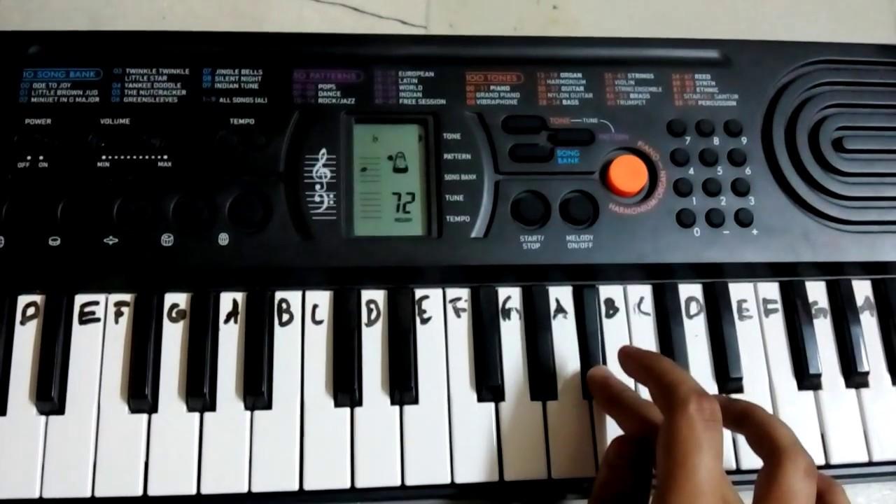 tum hi ho 39 aashiqui 2 39 basic piano tutorial casio sa 77 youtube. Black Bedroom Furniture Sets. Home Design Ideas
