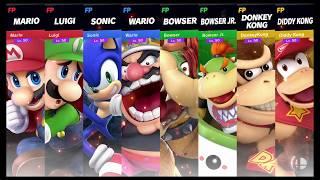 Super Smash Bros Ultimate Amiibo Fights Request #643 Team Smash on Skyloft