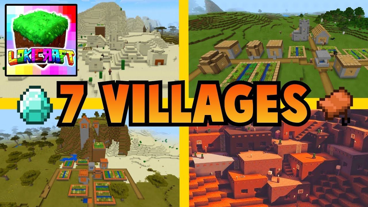 7 VILLAGES SEED IN LOKICRAFT - Best seed in lokicraft - 7 Villages and 2 Desert temples