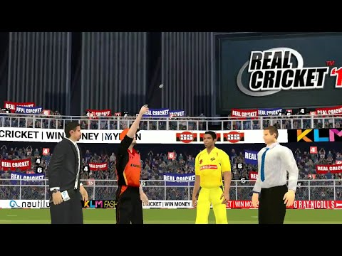22nd April IPL 11 Chennai Super Kings Vs Sunrisers Hyderabad Real cricket 2018 mobile Gameplay