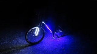 Как сделать крутую подсветку на велосипед ┃ LED lighting on the bike(В этом видео я покажу как сделать крутую подсветку на велосипед своими руками ··················..., 2016-05-06T06:48:11.000Z)
