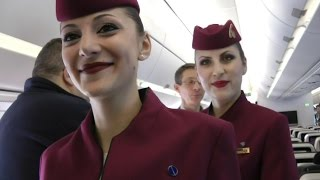 First A350 XWB delivery to Qatar Airways - THE FIRST FLIGHT - what happened after the speeches:)