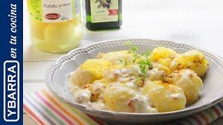 Patatas Ybarra con bechamel