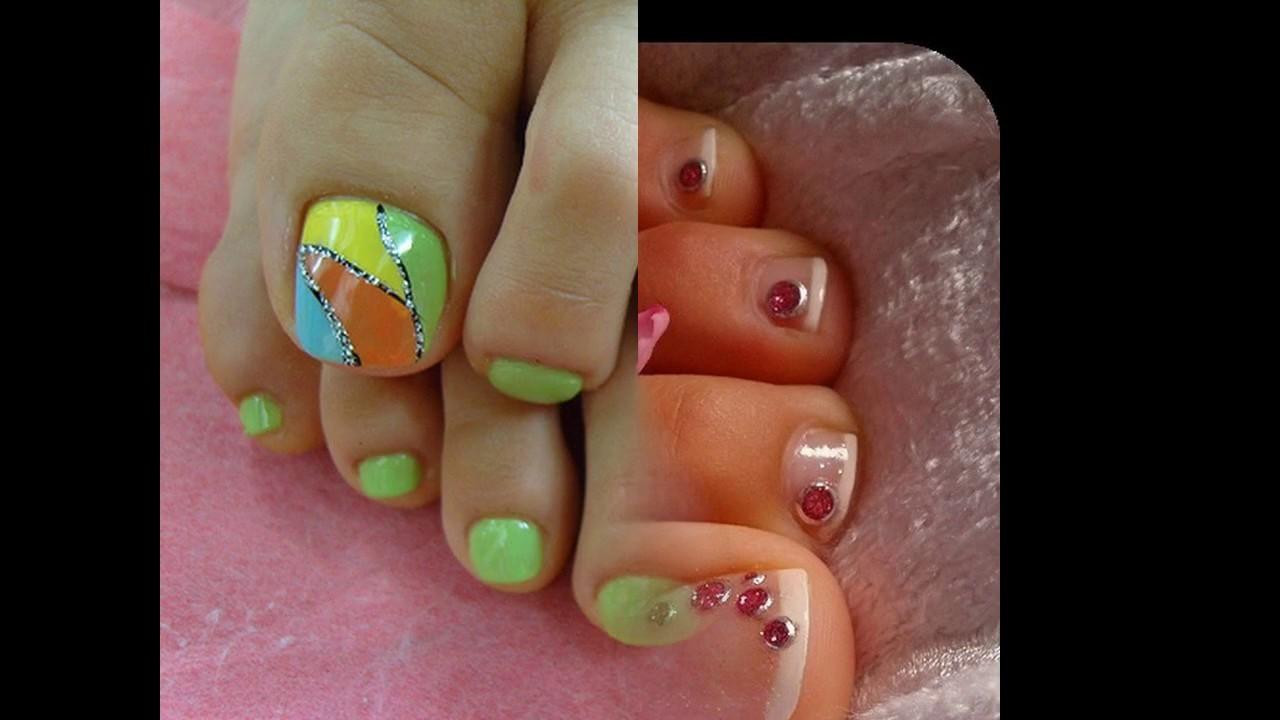 Uñas decoradas ideas para los dedos del pie elegantes - YouTube